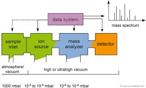 Setup of any mass spectrometer, Mass Spectrometry - A Textbook, 3rd edition