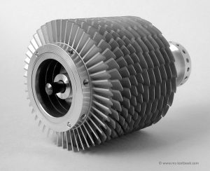 Rotor of turbomolecular pump, Mass Spectrometry - A Textbook, 3rd edition
