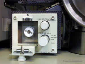 reservoir inlet of JEOL JMS-700 mass spectrometer, Mass Spectrometry - A Textbook, 3rd edition